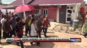 jokowi launches low cost houses in balikpapan youtube