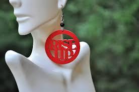 Atlanta Falcons Home Decor by Atlanta Falcons Jewelry Statement Earrings Football Earrings