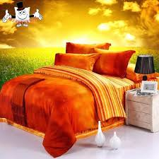 orange bed sheets full orange green and blue bright colorful