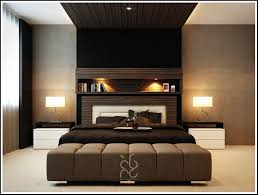 contemporary master bedroom with black comfortable master single