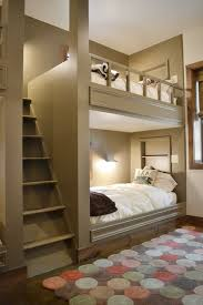 Build Twin Bunk Beds by Twin Over Full Bunk Bed With Stairs Kids Contemporary With Alcove