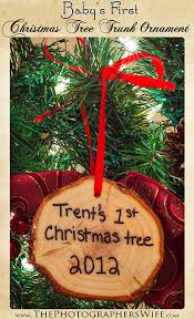 baby s tree trunk ornament diy the