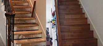 hardwood stairs before after all flooring install