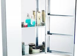 Stainless Steel Medicine Cabinet by Crosstown Stainless Steel Medicine Cabinet With Inlaid Square