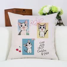 anime chi u0027s sweet home kawaii cat cartoon throw pillowcase home
