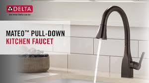 upscale kitchen faucets delta mateo single handle pull sprayer kitchen faucet with
