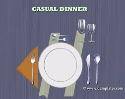 casual dinner place setting template demplates