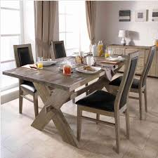 decor endearing natural wooden rustic dining room table using