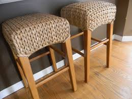 dining room apealing natural seagrass counter stools design with