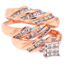 wedding rings sets his and hers his hers matching diamond wedding rings set 14k gold 0 67 ct