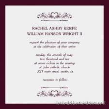 wedding invitation sample enchanting wedding invitation examples