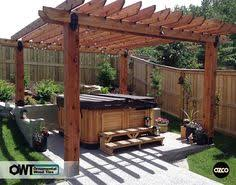 ozco building products ornamental wood ties owt pergola with