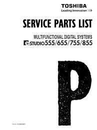 toshiba estudio 555 655 755 855 parts catalog