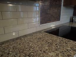 tiles backsplash glass brick tile rustic cabinet knobs granite