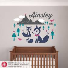 Nursery Name Wall Decals by Fox Mountain With Name Wall Decal Graphic Spaces