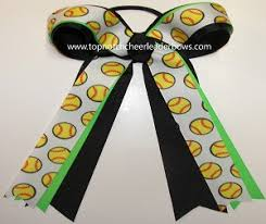 softball hair bows bulk softball ribbons wholesale softball bow neon green black