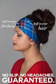 headbands that don t slip headband non slip flannel headband plaid grunge by mandabees