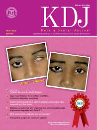 pedodontics thesis topics kerala dental journal by nandakumar krishnankutty issuu