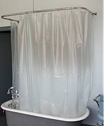 Amazon Extra Long Shower Curtain Amazon Com Extra Wide Vinyl Shower Curtain For A Clawfoot Tub