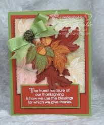 handmade thanksgiving card autumn splendor sting madly