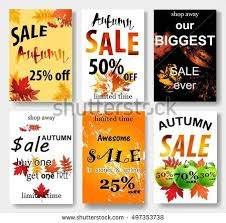 id card sle template autumn sale background template poster card stock vector 730420564