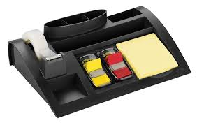 amazon com post it desktop organizer 12 x 8 x 3 inches black