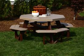 How To Make A Wooden Octagon Picnic Table by Luxcraft Poly Octagon Picnic Table Swingsets Luxcraft Poly