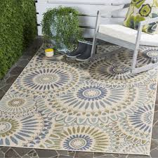 Polypropylene Rugs Outdoor by Comely Outdoor Area Rugs Rectangle Shape Cream Green Color