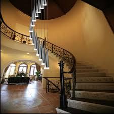 House Chandelier 1 5 3 5m Deplex House Aluminum Led Chandelier Lighting For Stairs