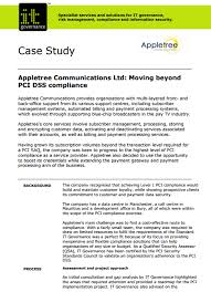 Appletree Communications Case Study IT Governance Ltd Download this case study now