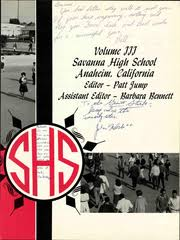 savanna high school alumni savanna high school savannan yearbook anaheim ca class of