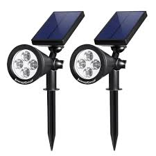 Led Outdoor Spot Lighting by Innogear Upgraded Solar Spot Lights White Light 2 In 1