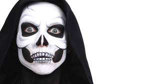 all white halloween mask halloween advanced skull face paint tutorial snazaroo youtube