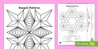 rangoli patterns using mathematical shapes rangoli patterns colour by 2d shapes colouring pages