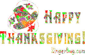 happy thanksgiving glitter text with pilgrim s hat glitter graphic