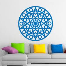 Wall Decals Vinyl Sticker Mandala by Wall Decals Mandala Pattern Oum Sign Symbol Yoga Studio Home Vinyl