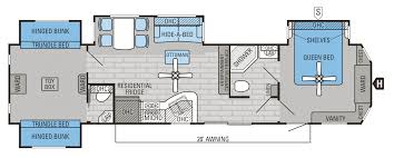 30 Foot Travel Trailer Floor Plans by Charming 2 Bedroom 5th Wheel Floor Plans Also Mesa Ridge Travel