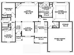 4 bedroom apartmenthouse plans simple house floor four bedrooms