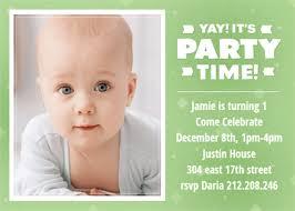 turning 1 free birthday invitation template greetings island