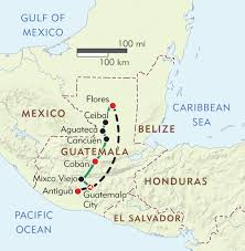 Map Of Southern Caribbean by Hidden Treasures Of Mayan Guatemala Itinerary U0026 Map Wilderness