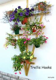 trellis hooks 6 plant pot holders to hang 6