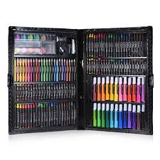 168pcs drawing pen art set kit painting sketching color pencils