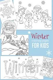 free printable bookmark for kids color the winter season free