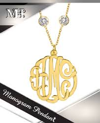 monogram pendants monogram jewelry