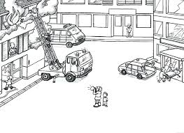 lego fire truck coloring pages preschoolers print firetruck