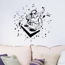 new arrival star wars with music note wall art mural decor sticker cheap star wars with music note wall art best star wars droid robot