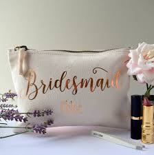 bridesmaid bags personalised bridesmaid make up bag by the alphabet gift shop