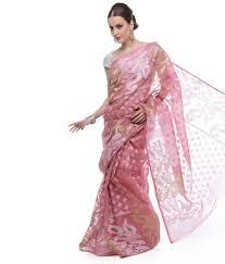 dhakai jamdani saree buy online samayra mustard and white color muslin cotton dhakai jamdani saree