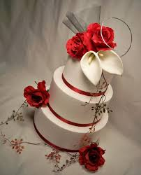 wedding cakes beautiful red and white wedding cakes red and