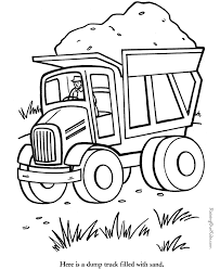 dump truck coloring pages getcoloringpages